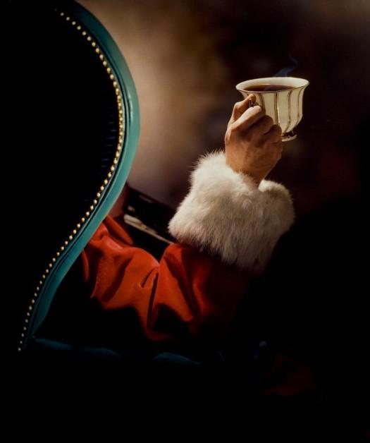 Santa in a chair