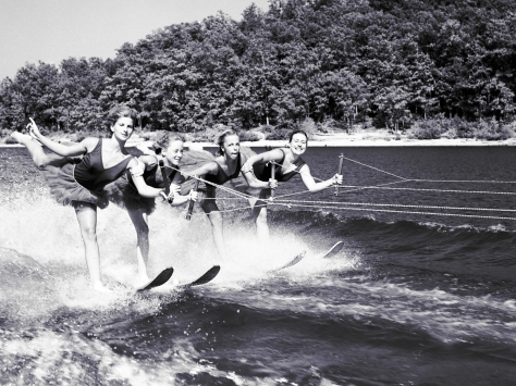 Water skiers on the Ozarks