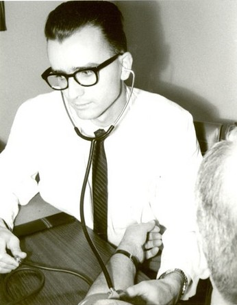 Mennonite Board of Missions. Dr Rutt: looking for a new hospital. Slave Lake, Alberta, 1965.
