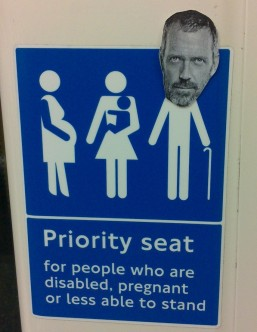 Hugh Laurie's priority seat